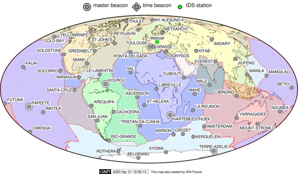 DORIS station map