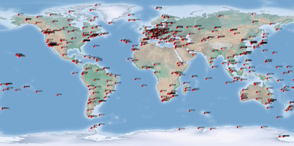 IGS map